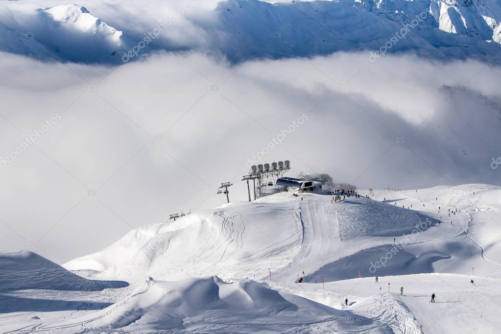 Ski lift in St. Anton am Arlberg