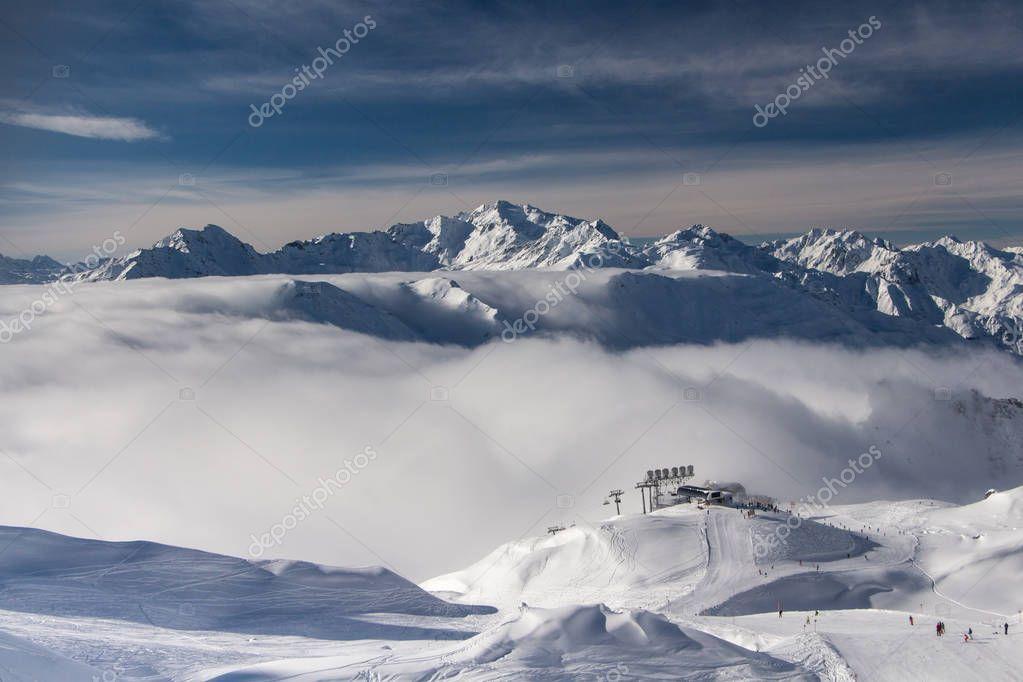 Ski slopes in St. Anton am Arlberg