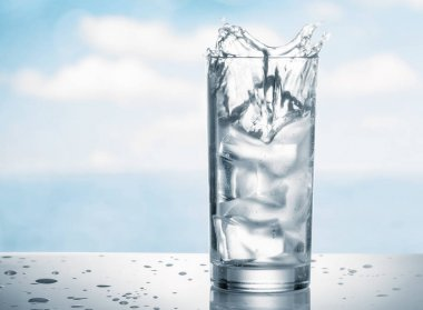 Fresh water with ice