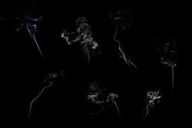 Smoke  on black background, abstract