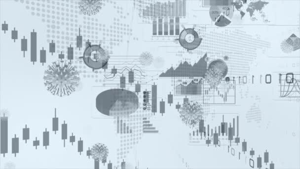 Graphs representing the stock market crash caused by the coronavirus.
