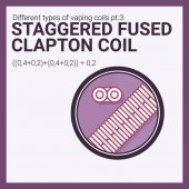 Fotografie Vector illustration vaping coil. Part of big set. Staggered fused clapton.