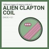 Fotografie Vector illustration vaping coil. Part of big set. Alien clapton.