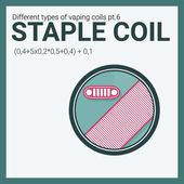 Fotografie Vector illustration vaping coil. Part of big set. Staple.