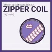 Fotografie Vector illustration vaping coil. Part of big set. Zipper.