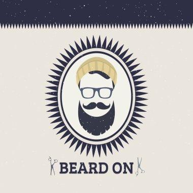 card with bearded man