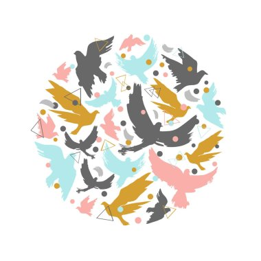 Illustration of birds silhouettes