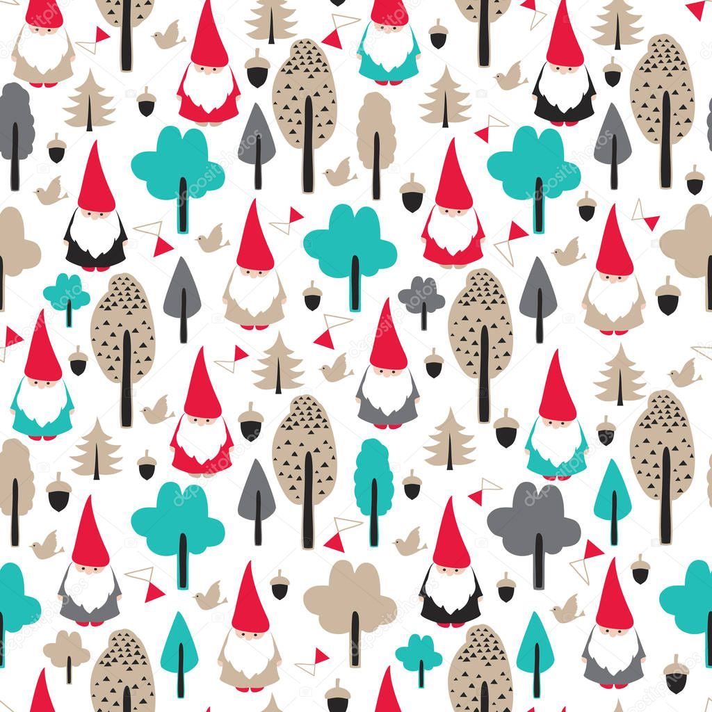 seamless pattern, merry christmas and happy new year theme