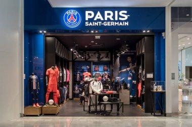 PARIS Saint Germain football club store in Roissy Charles de Gaulle Airport France 10.10.19