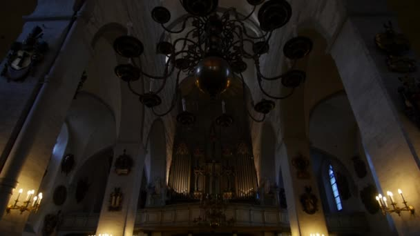 Interior of St. Marys Cathedral Church in Tallinn, Estonia, 9.2.2020 full name: Tallinna Neitsi Maarja Piiskoplik Toomkirik is a cathedral church located on Toompea Hill established by Danes.