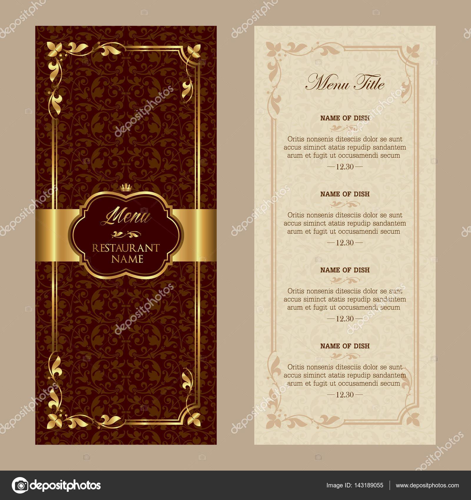 plantilla de diseño de menú de restaurante — Archivo Imágenes ...