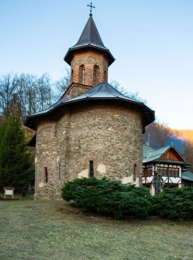 Beautiful church of Saint Arsenie Boca on a sunny autumn day in at Prislop Monastery, Romania