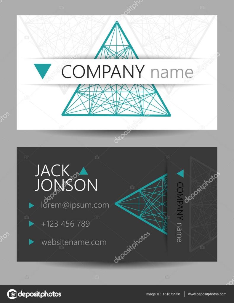 Schöne moderne Visitenkarten. Kreatives Design für polygraph ...