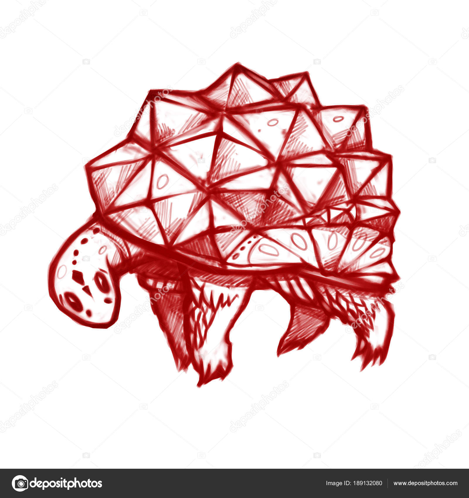 Turtle Crystal Shell Stylized Tortoise Graphic Sketch Style