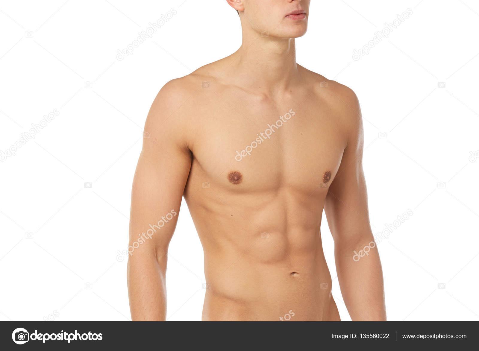 Tema deportes y fitness: desnudo hombre musculoso deportivo ...