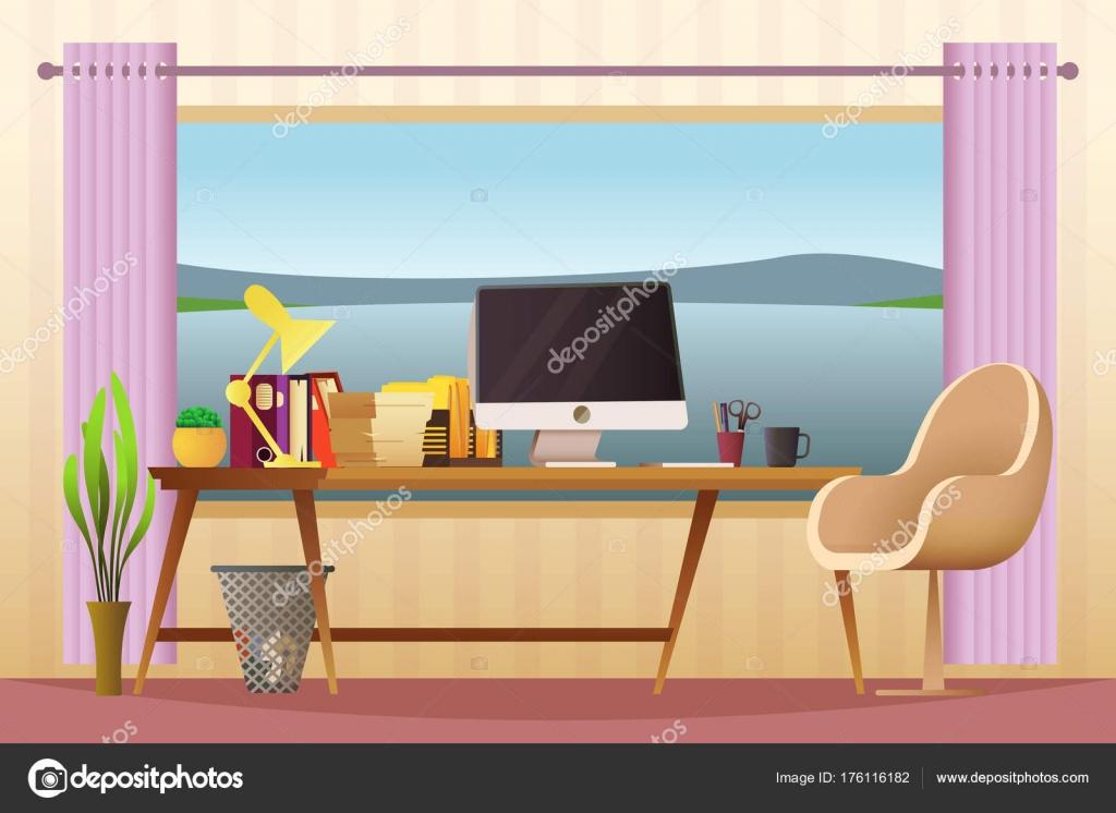 Travail de bureau à la maison moderne espace de travail créatif