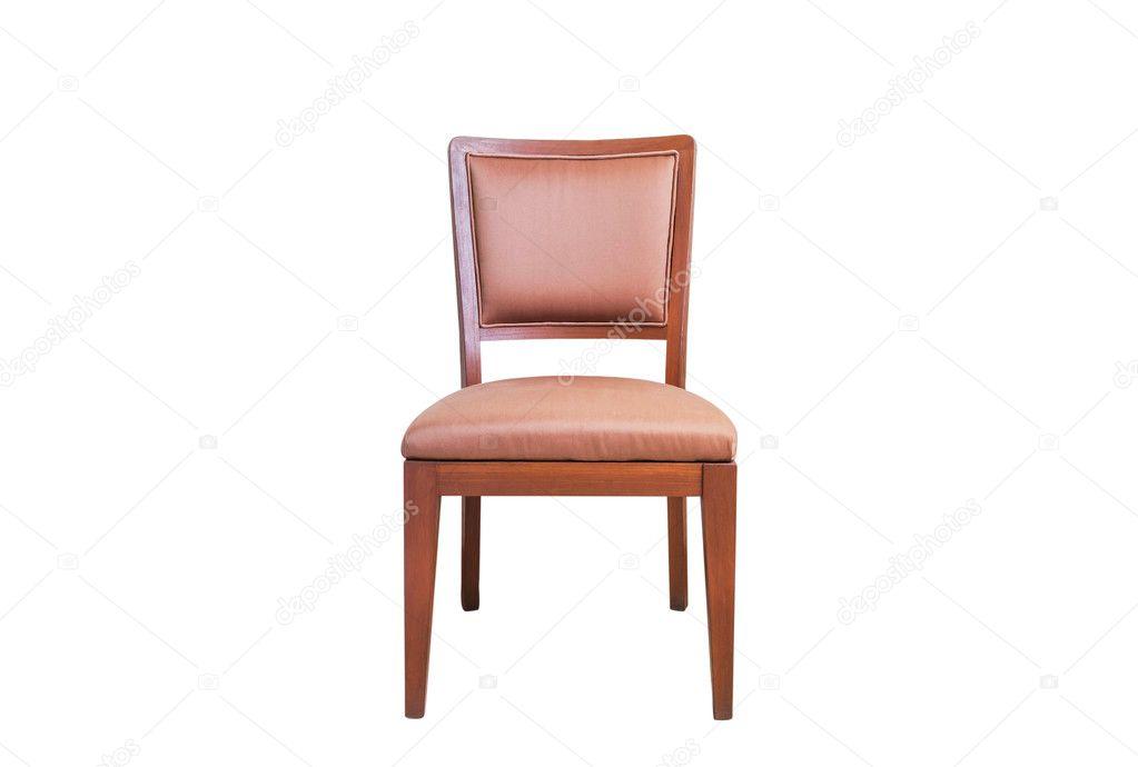 Sedie In Legno Rivestite In Pelle.Sedia In Legno Rivestita In Pelle Su Priorita Bassa Bianca Foto
