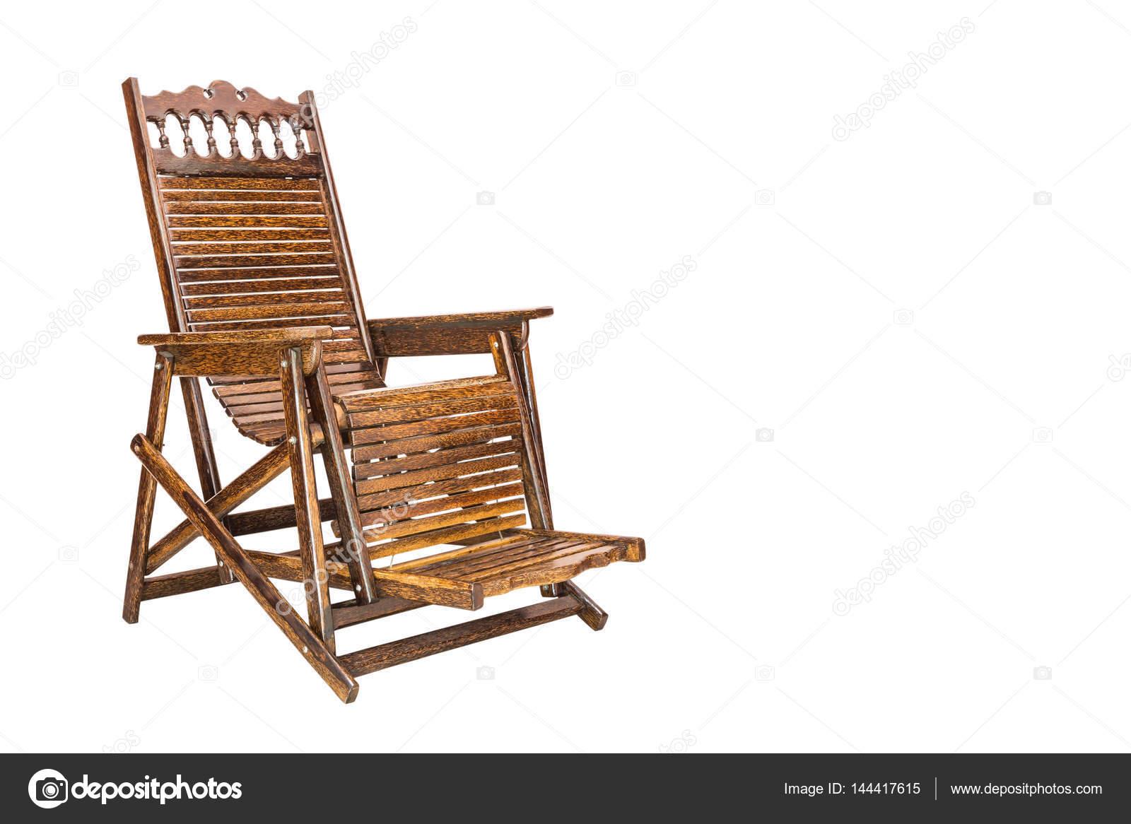 Houten ligstoel in retro stijl stockfoto with ligstoel for Ligstoel buiten