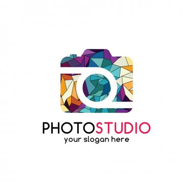 colorful geometrical photography logo