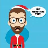 Santa claus představuje emoce a přísloví
