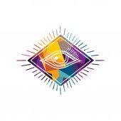 barevné abstraktní oko