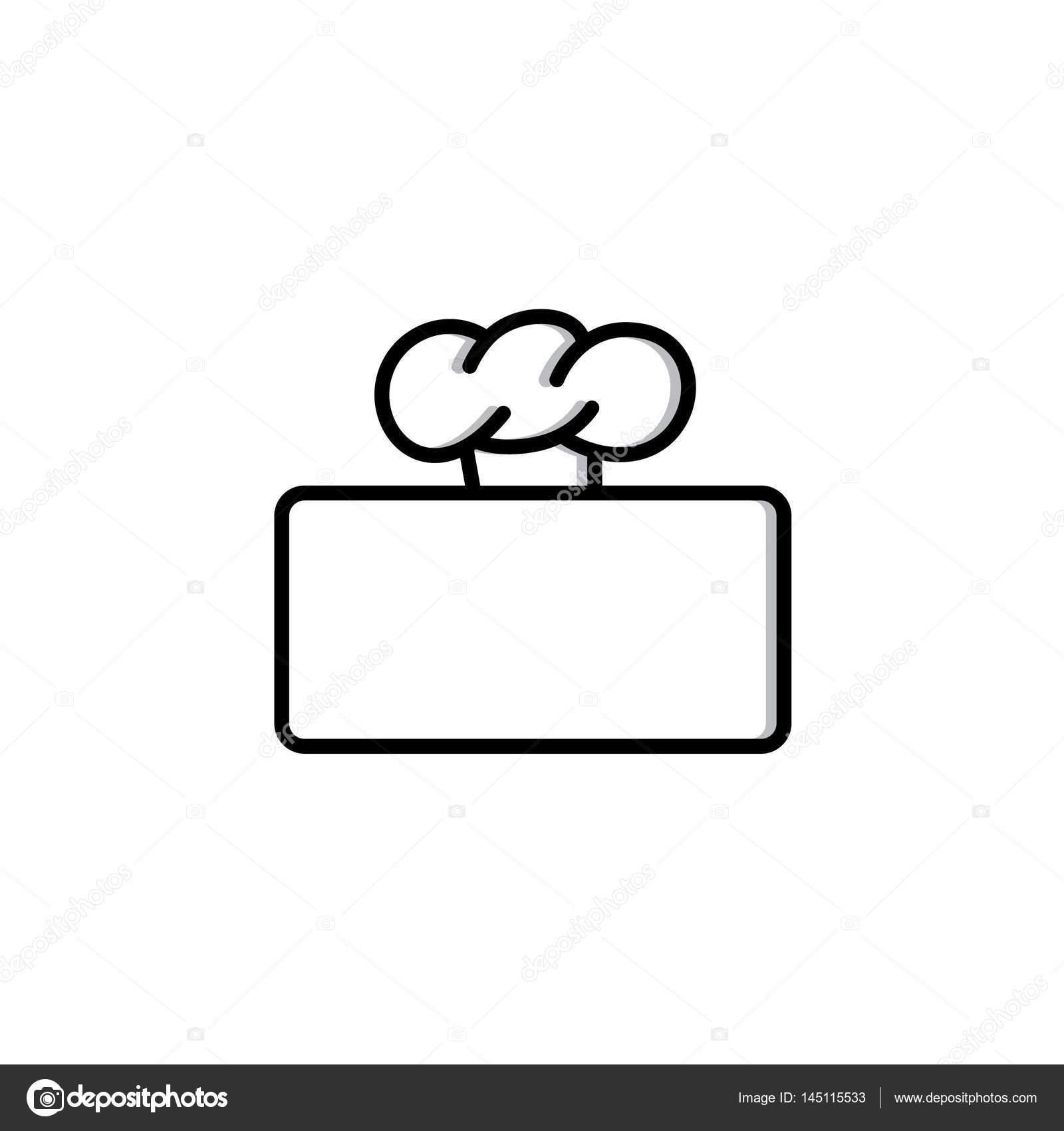 marco rectangular con gorro de cocinero — Vector de stock ...