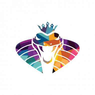 stylized snake business logo