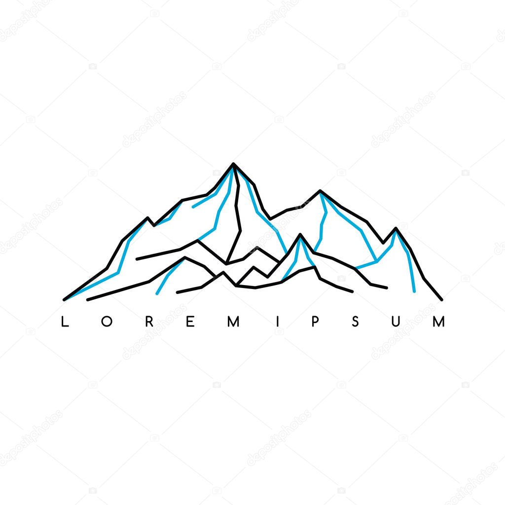 stylized mountains logo