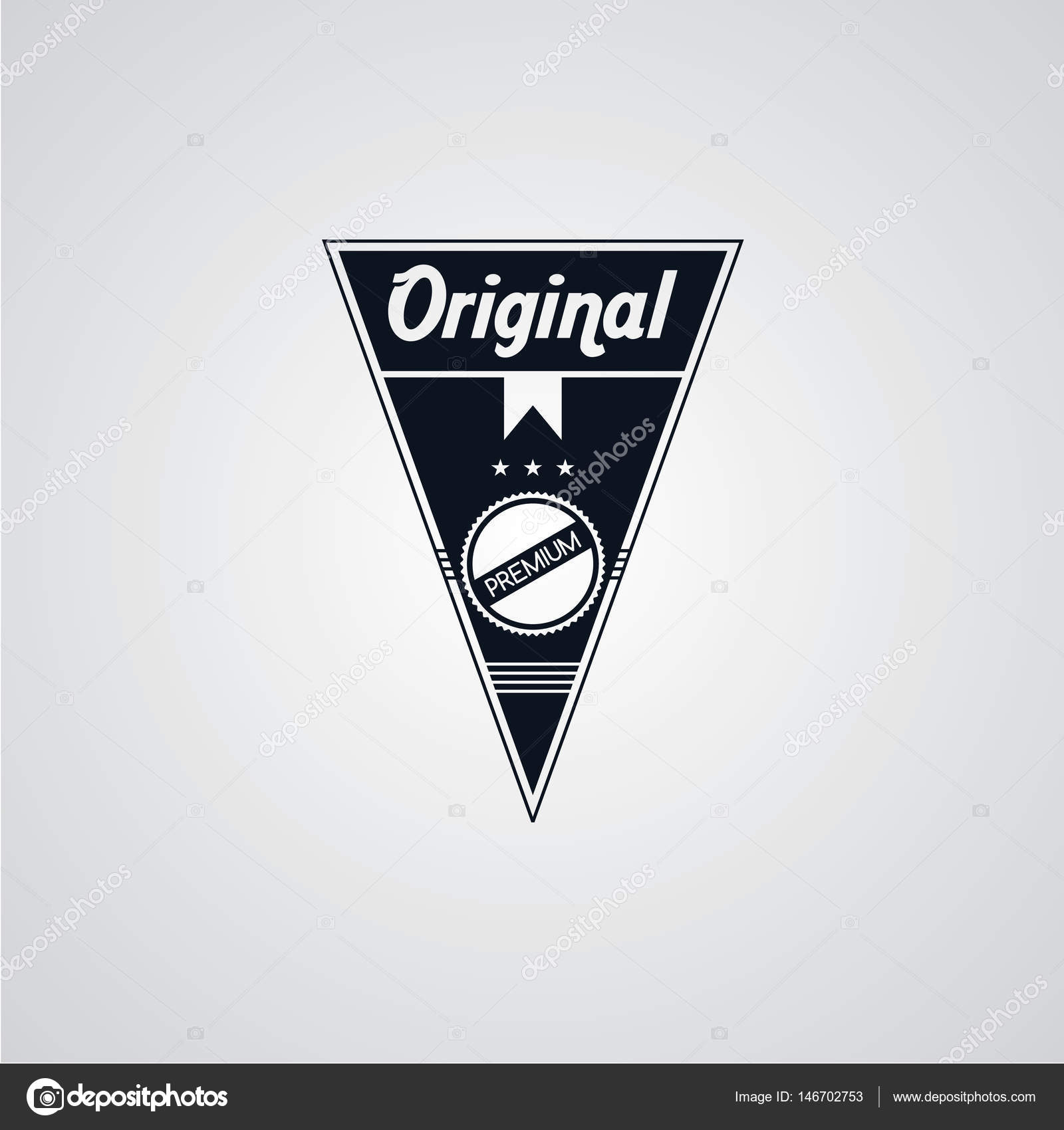 Vintage Badge Label Template Stock Vector C Vectorfirst 146702753