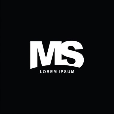 letters MS logo icon template