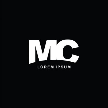 letters MC logo icon template