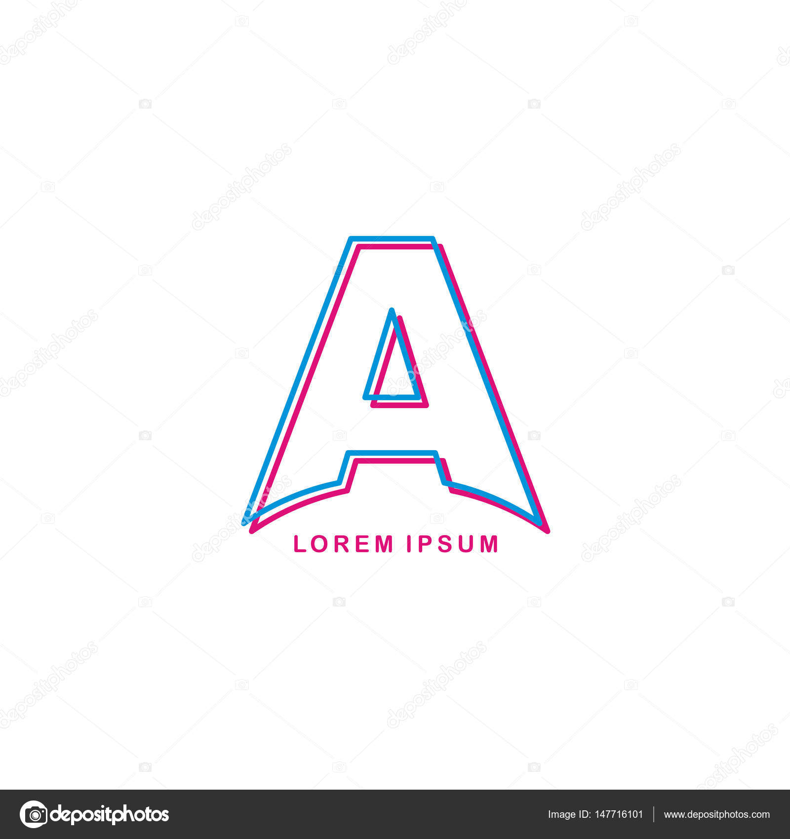 Moderne einzelne Buchstaben A — Stockvektor © vectorfirst #147716101