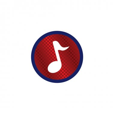 Music song round glossy icon