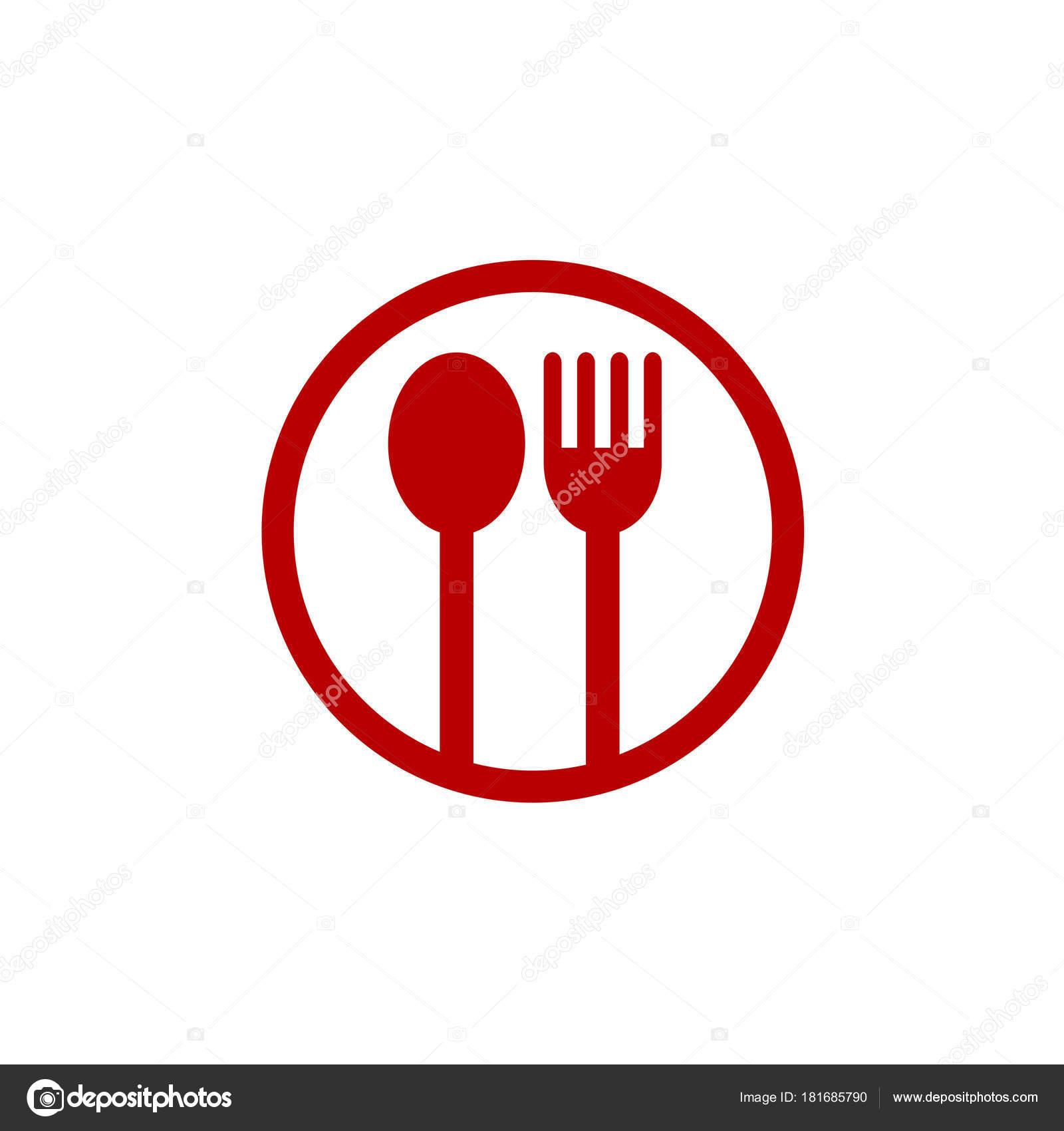 spoon fork logo � stock vector 169 vectorfirst 181685790