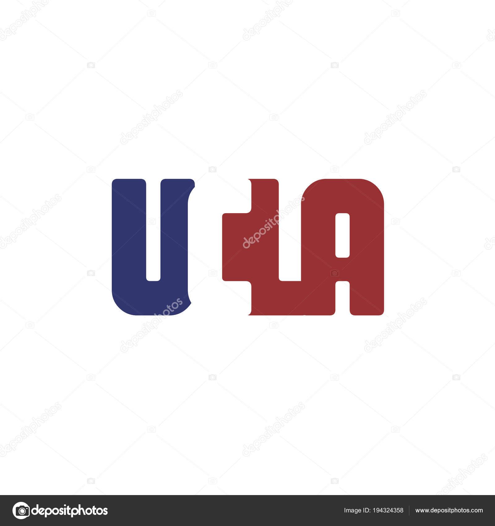 Alphabet Letters Ucla Logo Isolated White Vector Illustration