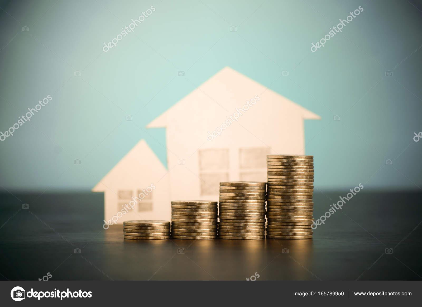 Monton De Dinero Monedas Creciendo Concepto En El Negocio De