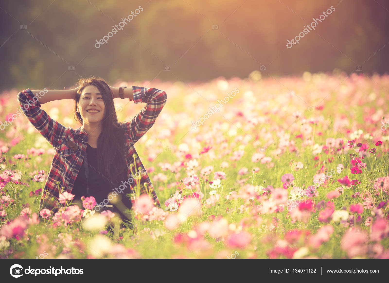 Free Happy Woman Enjoying Nature Beauty Girl Outdoor Freedom C Stock Photo C Ramirezom 134071122