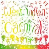 Westindischer Karneval verschwimmt.