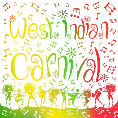 West Indian Carnival Blur Poster.