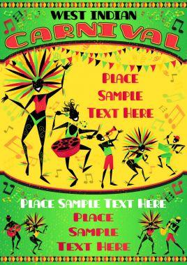 West Indian Carnival Portrait Poster