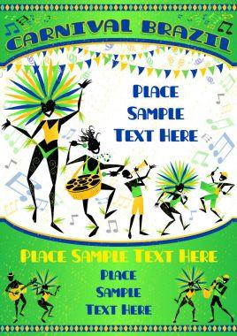 Brasil Carnival Portrait Poster