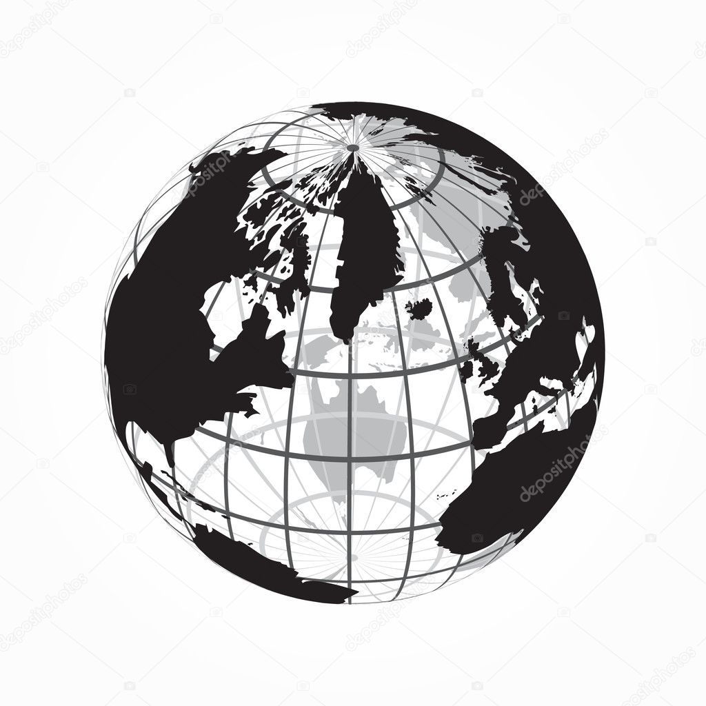 Around the world outline of world map with latitude and longitude around the world outline of world map with latitude and longitude stock vector gumiabroncs Choice Image