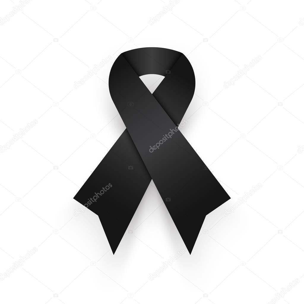 Imágenes Descanse En Paz Negro Cinta Sobre Fondo Blanco Llorar