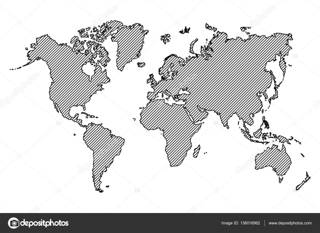 World map outline and oblique line stock vector world map outline and oblique line vector by stockdevil666 gumiabroncs Images