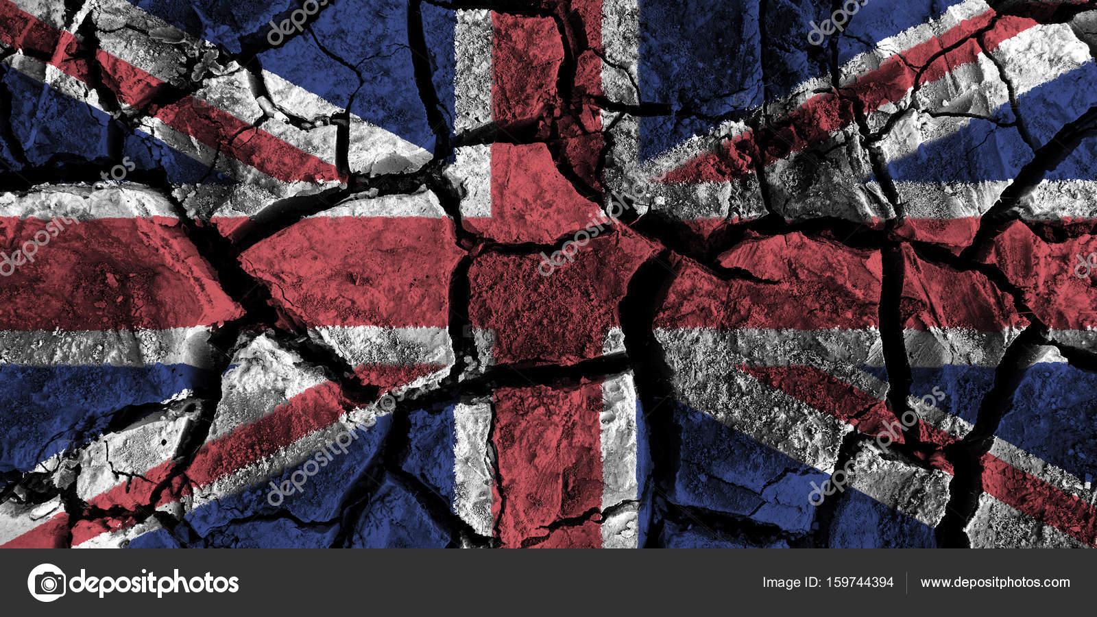 Yüksek Detay Kırık Yere Boyama Ingiltere Bayrağı Stok Foto