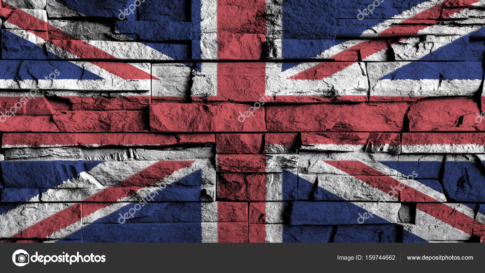 Bandera Reino Unido Pintura En Alto Detalle De La Vieja