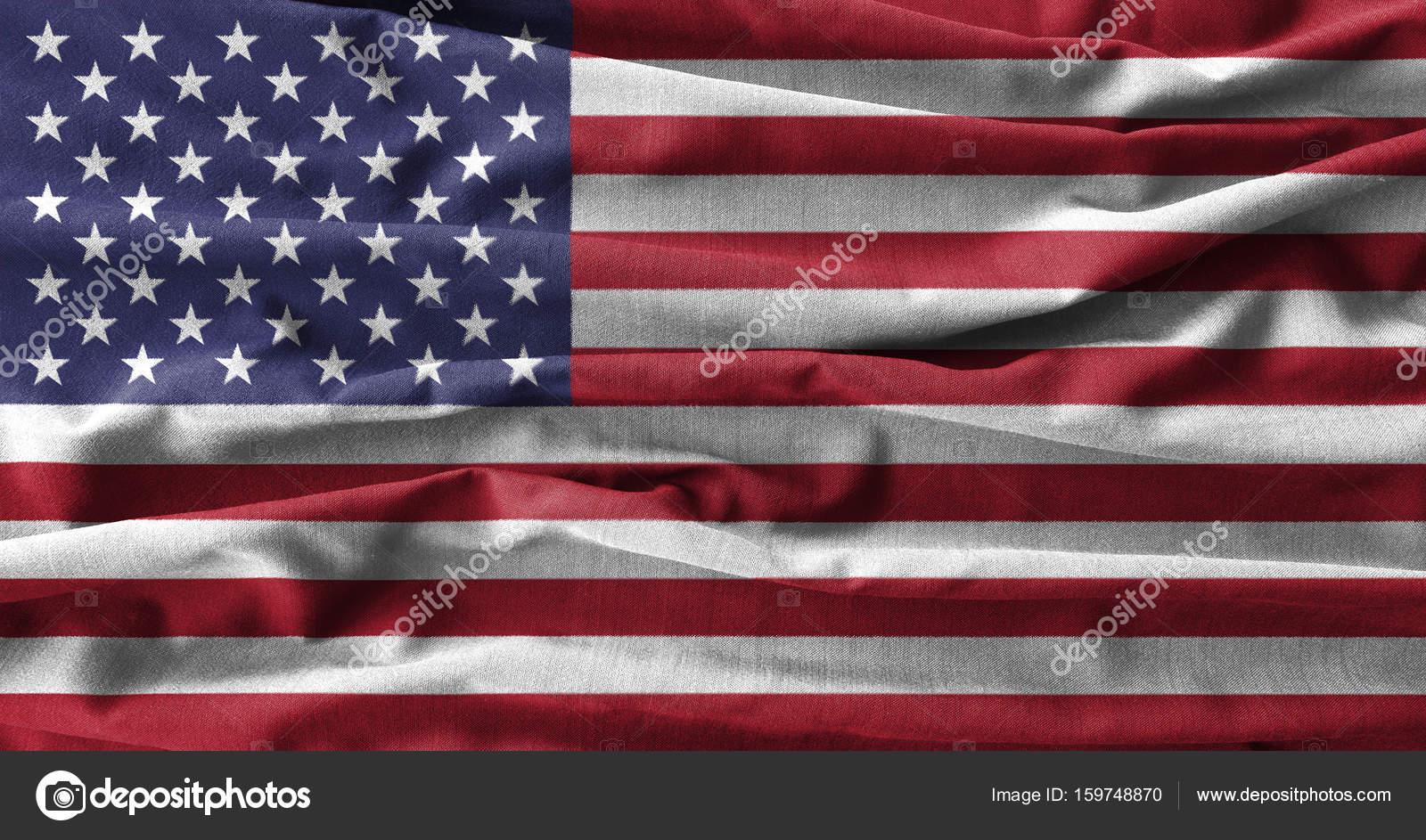 Amerikan Bayrağı Boyama Dalga Pamuk Kumaş Yüksek Detay Stok Foto