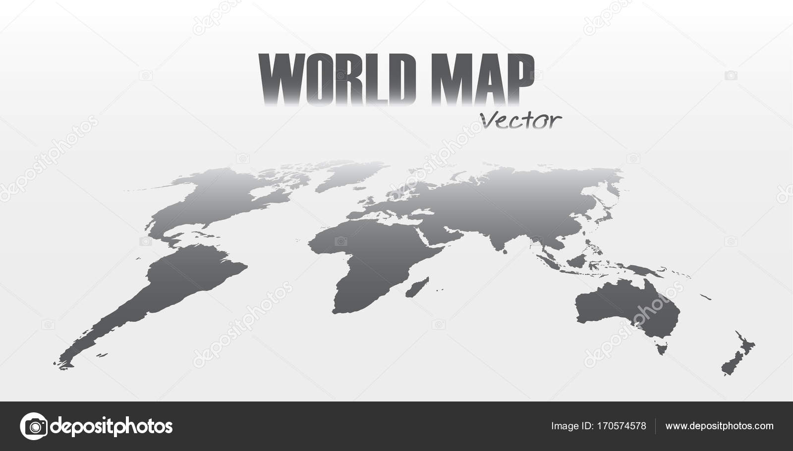 Perspective world map on gray background stock vector perspective world map on gray background stock vector gumiabroncs Choice Image