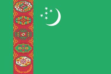 Official vector flag of Turkmenistan