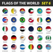 Fotografie All flags of the world set 6 . Circle and concave design